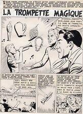 TROMPETTE MAGIQUE  PLANCHE DE MONTAGE AVENTURES FICTION ARTIMA 1959 PAGE TITRE