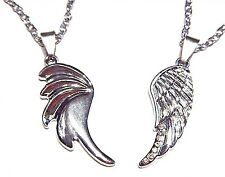 ANGEL & DEVIL WINGS NECKLACE PAIR best friends love couples set pendants new 4E