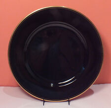 "Fitz and Floyd PAVILLON 12"" Service Plate Charger EXCELLENT Black Gold Trim"