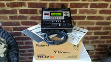ROLAND TD-12 MODULE WITH MOUNT & ORIGINAL MANUALS AND BOX! GREAT CONDITION!