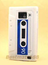FOR SAMSUNG GALAXY S2 i9100 and i777 WHITE CASSETTE TAPE SOFT SILICONE CASE //