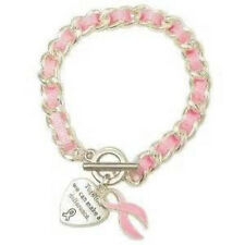 Breast Cancer Awareness Toggle Bracelet