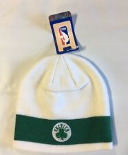 Boston Celtics Knit Beanie Toque Skull Cap Winter Hat NEW NBA White Green Stripe