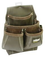 ROLSON OIL TAN TOPGRAIN H-DUTY LEATHER SINGLE 6 POCKET TOOLPOUCH *NEW RANGE*