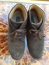 LACOSTE SUEDE ANKLE BOOTS, SIZE 8