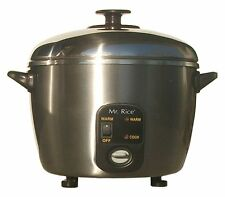SC-886 3-Cup Stainless-Steel Rice Cooker and Steamer