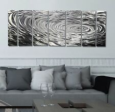 Modern Silver Abstract Metal Wall Art Home Decor - Ripple Effect by Jon Allen