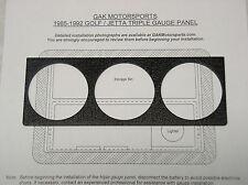 VW A2 Mk2 Golf GTI Jetta - Triple Gauge Panel