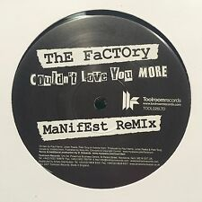 The Factory ‎– Couldn't Love You More (Manifest Remix) NEW Toolroom VINYL 12""