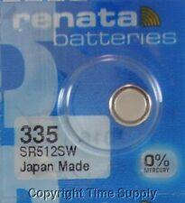 1 pc Renata 335 Watch Batteries 335 SR512SW SR512 512SW  0% MERCURY