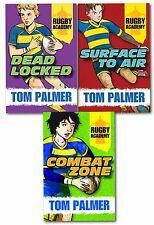 Tom Palmer Rugby Academy 3 Books Set Children Collection Dead Locked Combat Zone