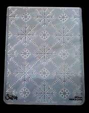 Sizzix Large Embossing Folder CHRISTMAS SNOWFLAKES fits Cuttlebug & Wizard