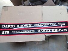 DAVID BROWN 880 SELECTAMATIC  HOOD DECALS. XLENT QUALITY. SEE DETAILS