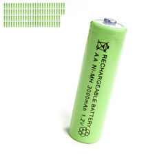 100 pcs AA 2A 3000mAh 1.2V Ni-MH rechargeable battery Solar Light MP3 Toy Green