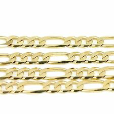 "14k Yellow Gold Figaro Chain Necklace 18""(new, 24.30g)#2485b"