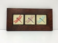 Fay Jones Day Dragonfly Art Tiles Framed Arts Crafts Mission Style Oak Park