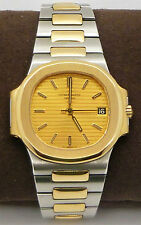 1984 Patek Phillippe Nautilus 3800/1 SS & 18ct gold automatic watch