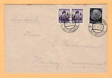 22.2.1938 Dürenberg bei Hallein - Österreich Nr. 567 + DR Nr. 512 - nach Hamburg