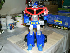 TRANSFORMERS 12'' ANIMATED LEADER OPTIMUS PRIME ROLL OUT COMMAND FIGURE