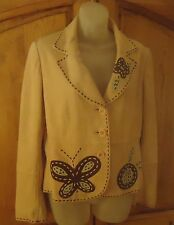 Rare MOSCHINO CHEAP & CHIC Soft Goat Skin Suede Fitted 3-Btn Jacket ITALY Sz 12