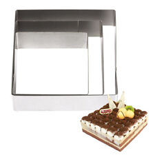 DIY 5 6 7 inch Square Shape Stainless Steel Mousse Ring Cake Mold Circle Mould