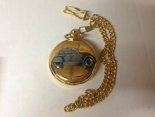 Citroen 2CV ref37 Pewter Effect Car on a polished Gold Case Pocket Watch