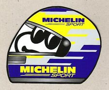 Michelin Sport, Bib Bibendum Helmet Sticker, Vintage Sports Car Racing Decal