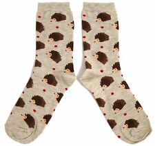 LADIES SPIKE & HIS HEDGEHOG FRIENDS SPOTTY SOCKS UK SIZE 4-8 EUR 37-42 USA 6-10