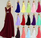 Cap Formal Wedding Evening Prom Ball Gown Party Bridesmaid Dress Stock Size 6-18
