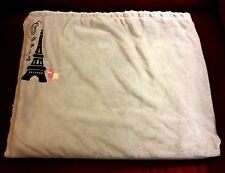 SL Home Fashions PARIS Grey Soft Baby Blanket Pink Swirl Sherpa Eiffel Tower