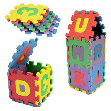 36PCS DIY Alphanumeric Educational Soft Foam Blocks Puzzles Kids Toys 0-7 Year@