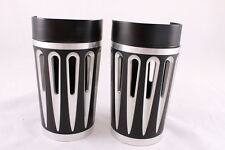 Black Plated Retro Fork Boot Slider Covers for Harley 86-13 FLH/T