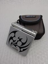 GAMEBOY ADVANCE SP AGS-001 (Silver / Tribal) + Official Case - WORKING