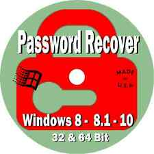 Password Reset Boot CD-ROM for Windows 8 - 8.1 - 10 for PCs/Laptops/Desktops