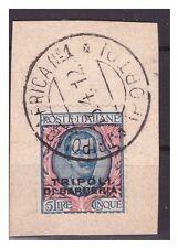 TRIPOLI DI BARBERIA  1909  -     LIRE  5    USATO