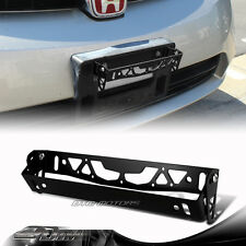 JDM Black Brushed Aluminum Front Adjustable Tilt License Plate Bracket Universal