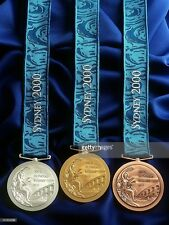 Sydney 2000 Olympic Medals Set: Gold/Silver/Bronze with Silk Ribbons !!!