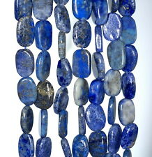 10X7-13X8MM  LAPIS LAZULI GEMSTONE BLUE PEBBLE NUGGET LOOSE BEADS 13-14""