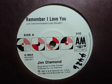 "Jim Diamond ""Remember I Love You"" Great Oz 7"""
