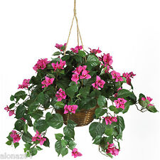 Bougainvillea Silk Hanging Basket Flowers Nearly Natural 6608