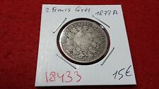 FRANCE 2 TWO FRANCS CERES - 1872A - OLD FRENCH COIN - REF18433