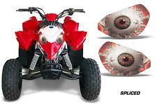 AMR Racing Head Light Eyes Polaris Outlaw 90 ATV Headlight Decals Part SPLICE R