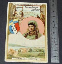 CHROMO CHOCOLAT POULAIN 1890-1910 COLONIES FRANCE ST PIERRE ET MIQUELON