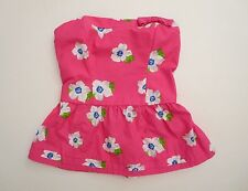 NWT Abercrombie Kids Strapless Floral Tube Top Size Large Pink & White Bow