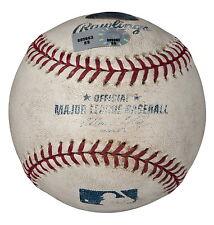 JOHNNY CUETO GAME USED 2008 ROOKIE SEASON PITCHING BALL vs HIROKI KURODA DODGERS
