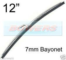 "12"" INCH STAINLESS STEEL NOT CHROME CLASSIC CAR WIPER BLADE 7mm BAYONET FITTING"