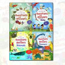 Katie Daynes Collection Lift the Flap Questions & Answers 4 Books Set Pack NEW