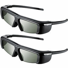 2pc Original Samsung 3D TV Battery Operated Glasses SSG-2100AB