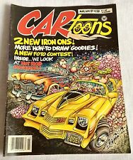 Cartoons Magazine March/April 1981 How to Draw Cars 2 Iron Ons Vintage