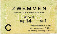 Olympic Games Juegos Olímpicos 1928 nadar boleto swimming Ticket